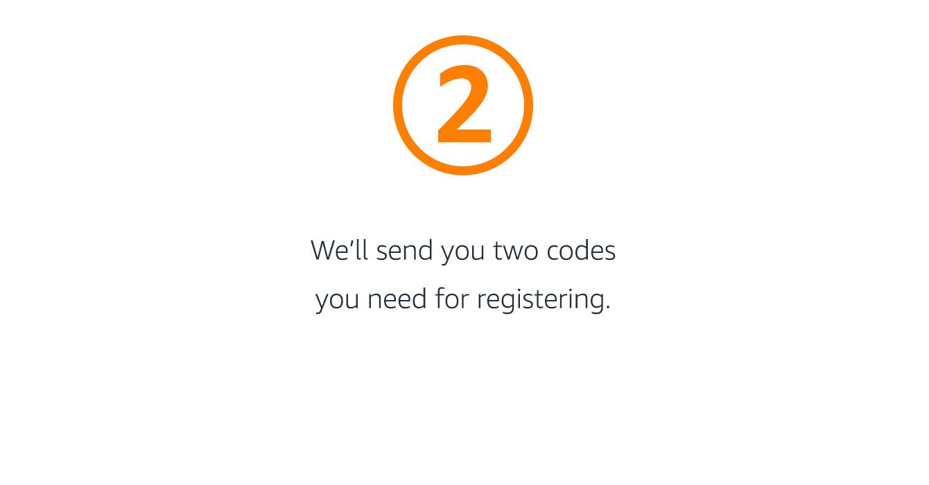 Codes for registering