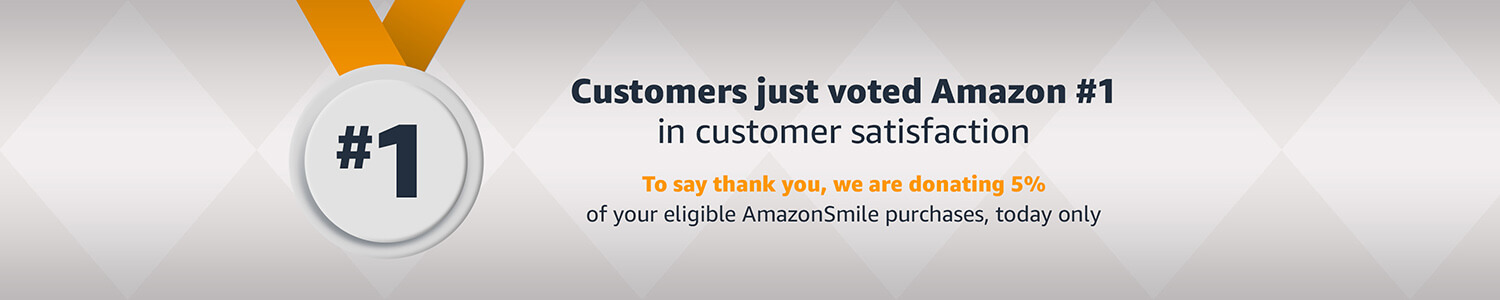 Thank you! Today, we are donating 5% of eligible AmazonSmile purchases to charity.