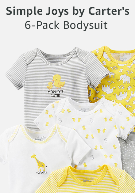 Simple joys by carter's 6-pack bodysuit