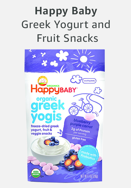 Happy baby greek yogurt and fruit snacks