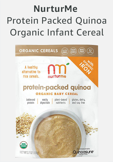Nurture me protein packed quinoa organic infant cereal