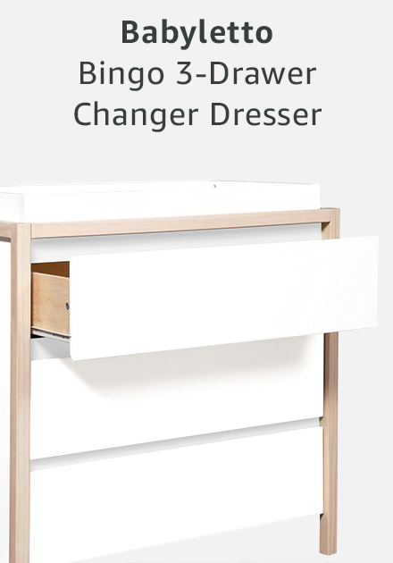 Babyletto bingo 3-drawer changer dresser