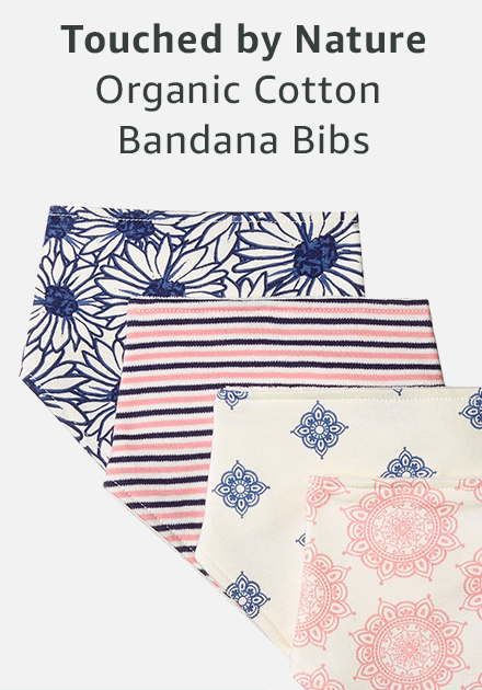 Touched by nature organic cotton bandana bibs