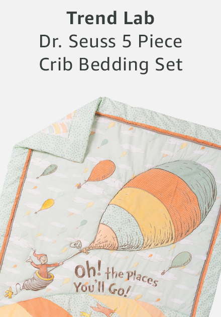 Trend lab doctor seuss 5 piece crib bedding set