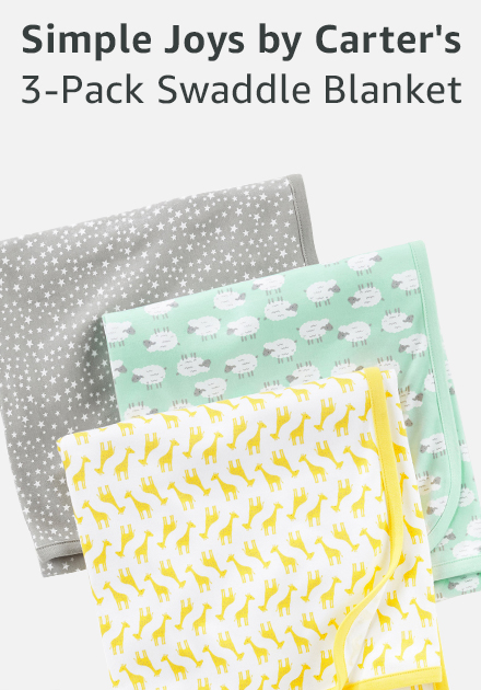 Simple joys by carter's 3-pack swaddle blanket