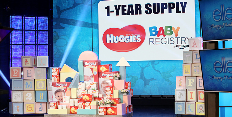 Image of a one year supply of Huggies from Baby Registry by Amazon.