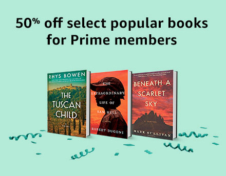 50% off select popular books for Prime Members