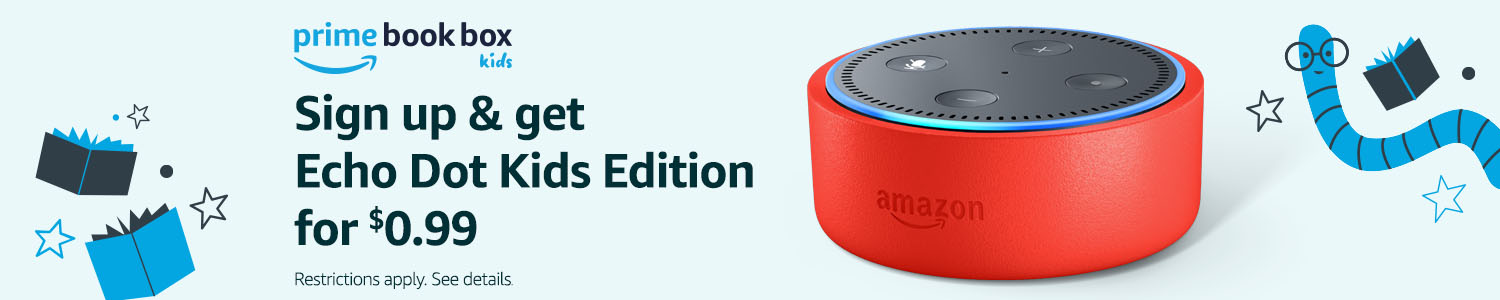 Sign up for Prime Book Box & get Echo Dot Kids Edition for $0.99