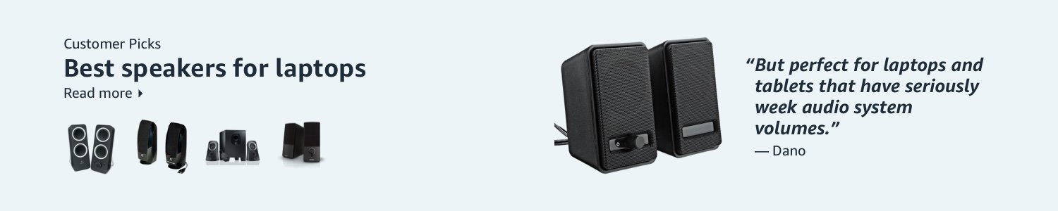 Best speakers for laptops according to our customers