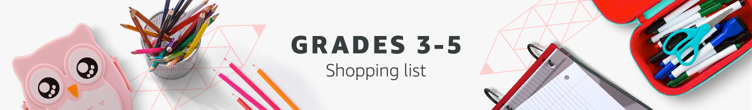 Grades 3-5 Shopping List