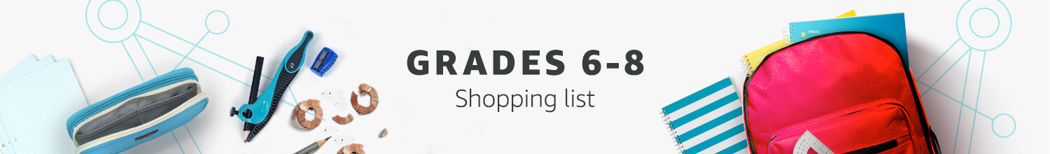 Grades 6-8 Shopping List