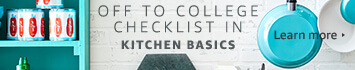 Off to College checklist in Kitchen Basics