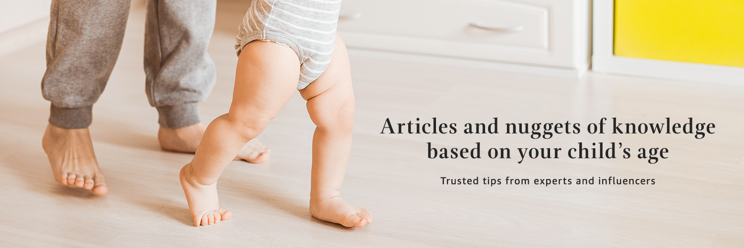 Articles and nuggest of knowledge based on your child's age