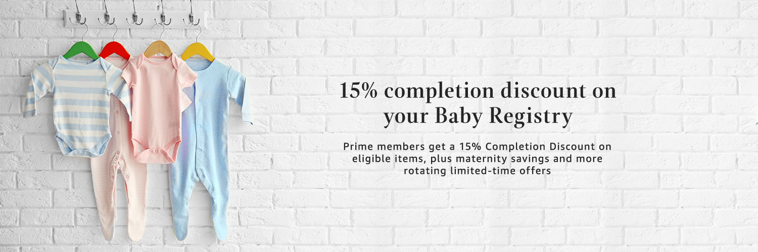 15% completion discount on your Baby Registry
