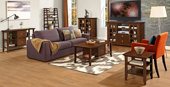 Simpli Home Rich Tobacco Brown Acadian Collection - Living Room Furniture Amazon.com