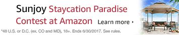 Sunjoy Staycation Paradise Contest at Amazon