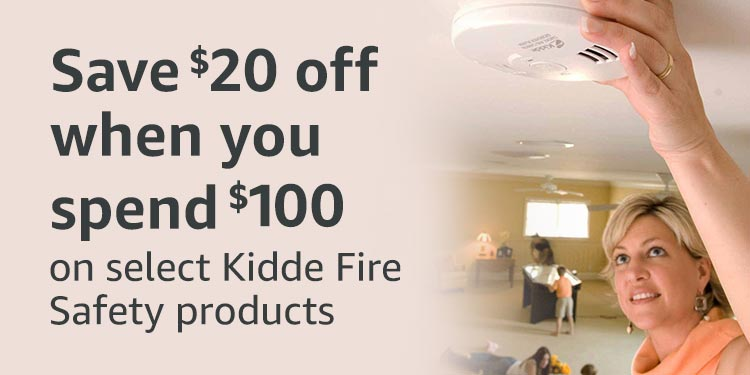 Save $20 off $100 purchase of select Kidde fire safety products