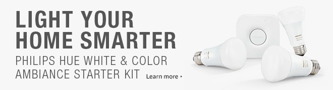 Philips Hue 464479 White and Color Ambiance A19 60W Equivalent Starter Kit