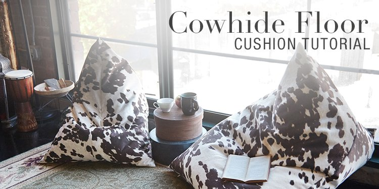 Cowhide Floor Cushion Tutorial