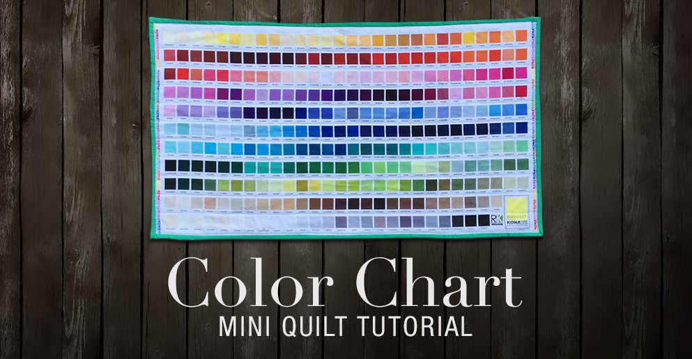 Color Chart Mini Quilt Tutorial