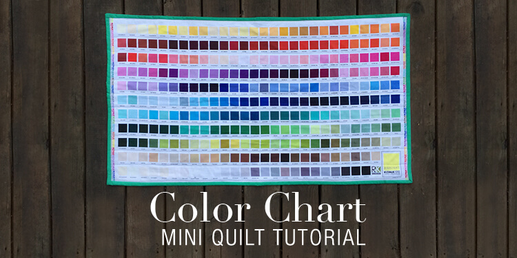 Color Chart Mini Quilt Tutorial
