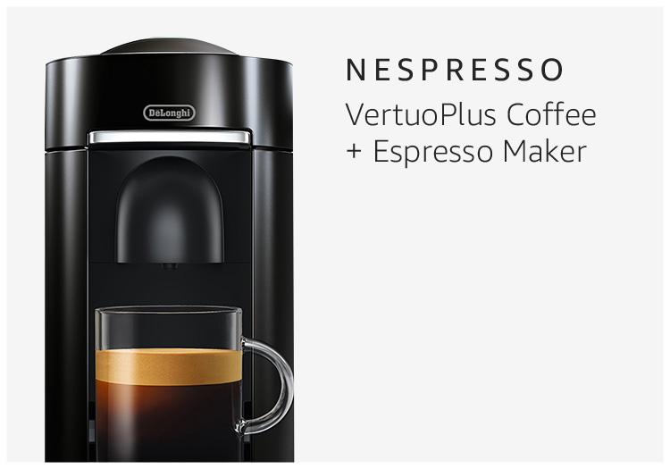Nespresso VertuoPlus Coffee + Espresso Maker