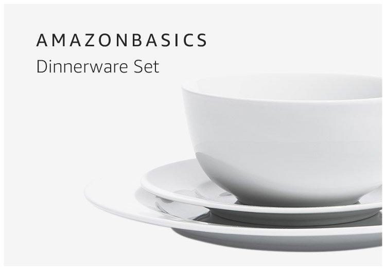AmazonBasics Dinnerware Set