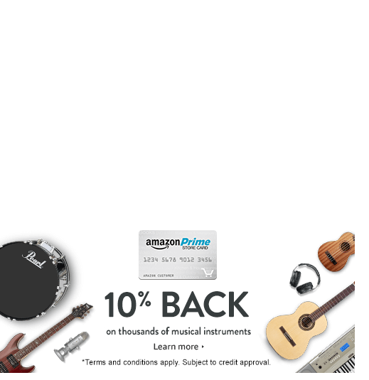 Get 10 Cashback On Thousands Of Musical Instruments With Your Amazon Com Store Credit