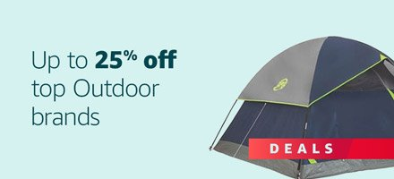 Up to 25% off Outdoor Gear on Amazon.com