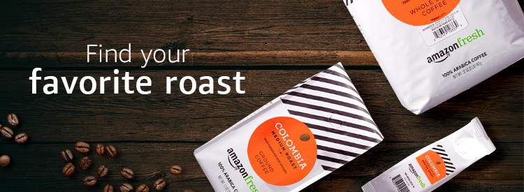 AmazonFresh coffee, find your favorite roast