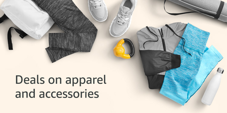 Deals on apparel and accessories