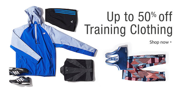 discount on training clothing