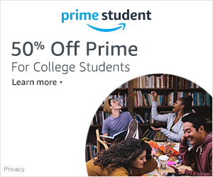 Amazon Student exclusive! 50% off Prime