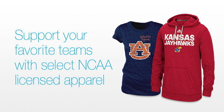 Support your favorite teams with select NCAA Apparel