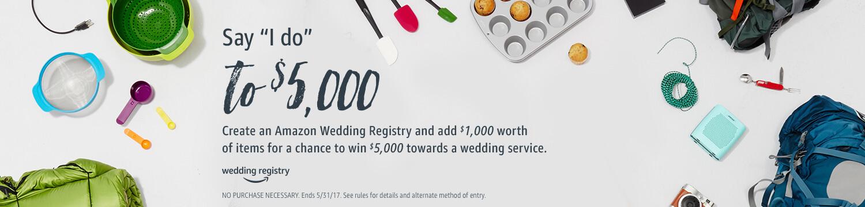 amazon wedding registry sweepstakes promotion
