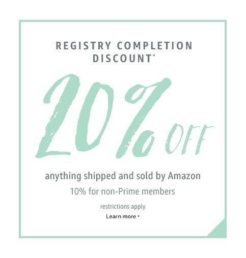 Wedding Registry Completion Discount