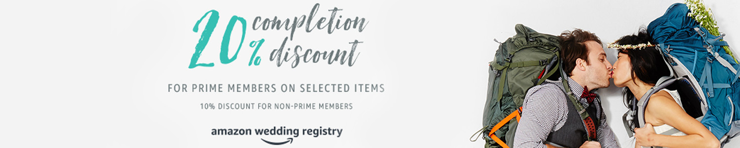 amazon wedding registry completion discount