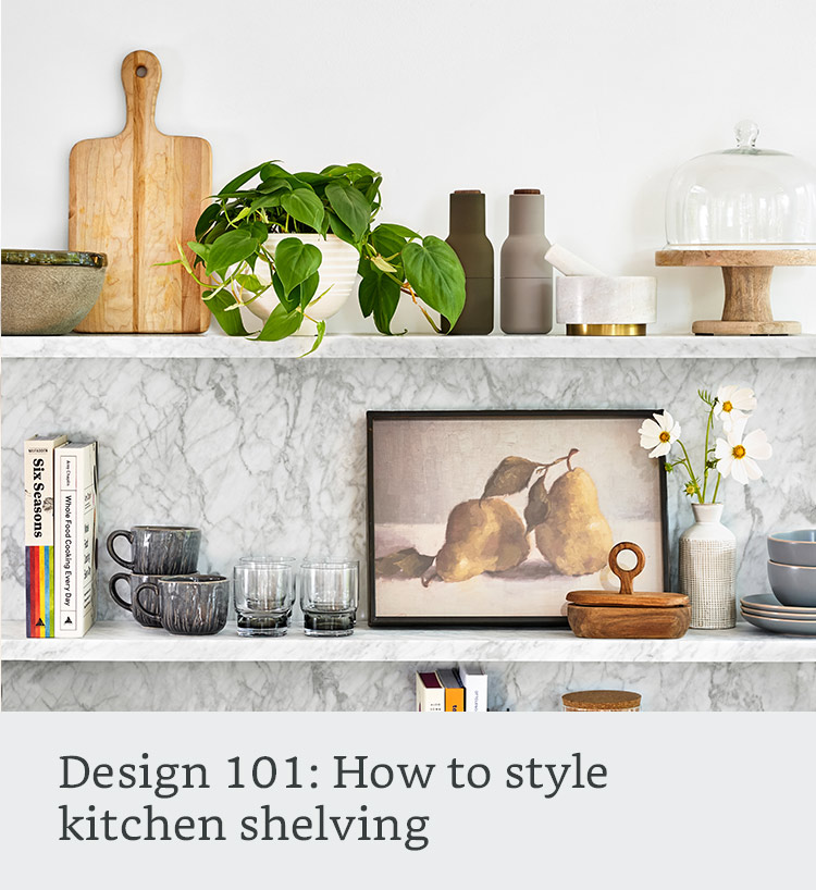 How to style kitchen shelving