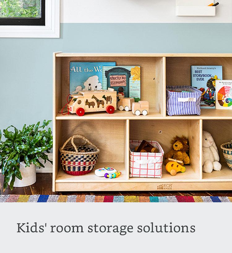 Kids' room storage solutions