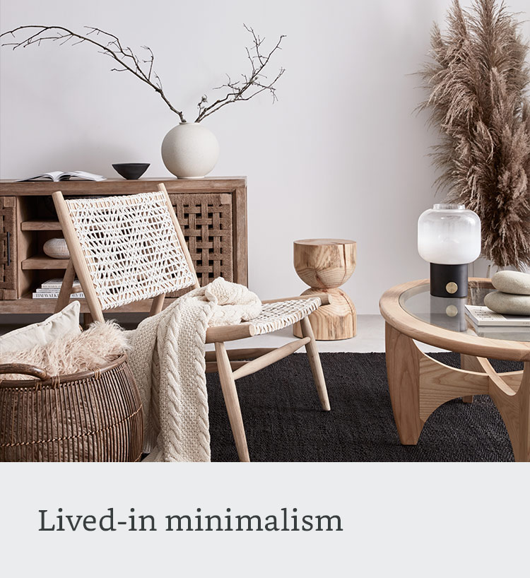 Lived-in minimalism