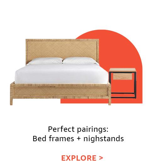 Perfect pairings: bed frames & nightstands