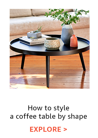 How to style a coffee table by shape