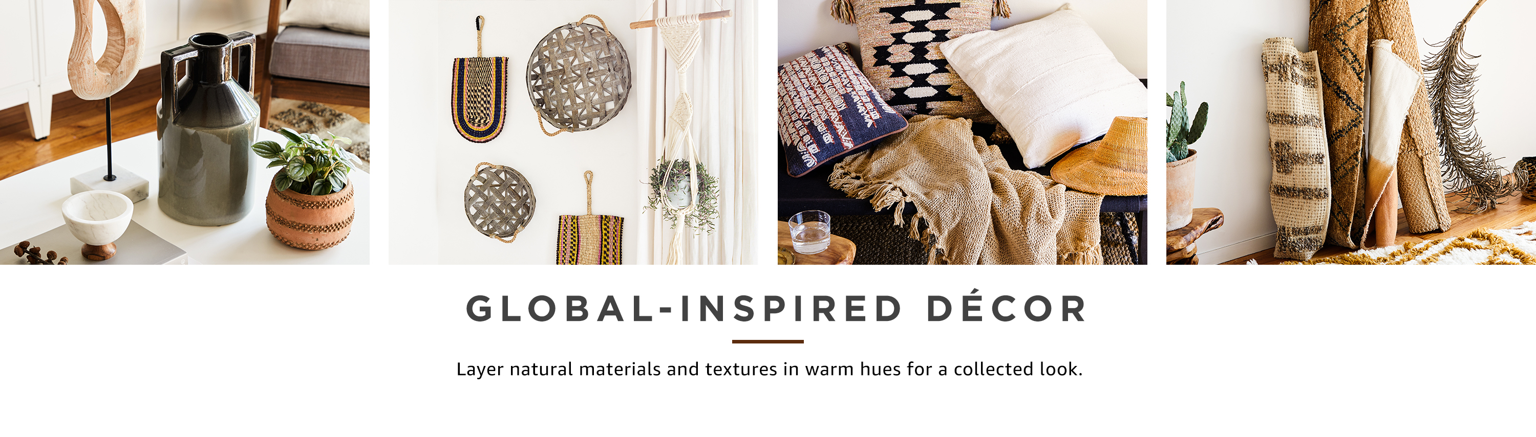 Global-inspired decor