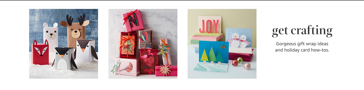 Get crafting: Gorgeous gift wrap ideas and holiday card how-to's