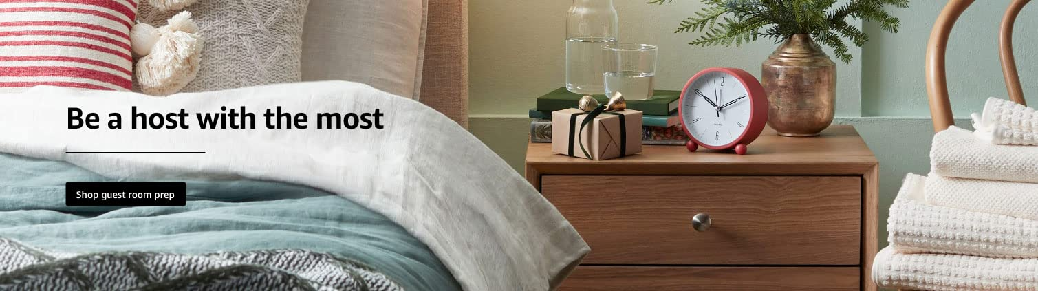Be a host with the most. Shop guest room prep