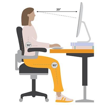 Set up an ergonomic workspace