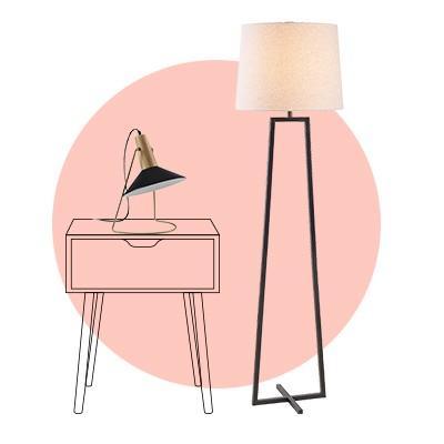 Perfect pairings: floor + table lamps