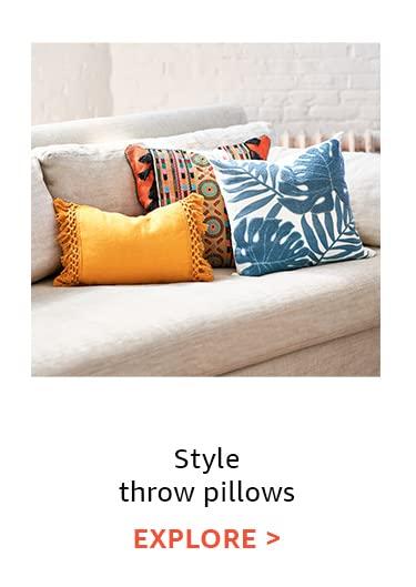Style throw pillows