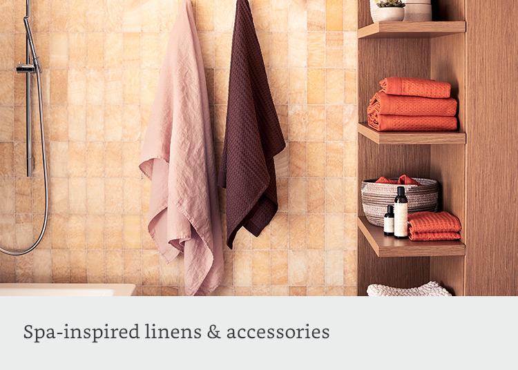 Spa-inspired bath accessories