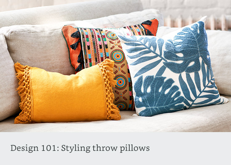 Design 101: Styling throw pillows